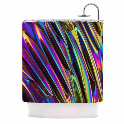 Danny Ivan Twist Illustration Shower Curtain