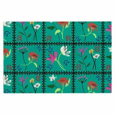 DLKG Simple Garden Tiles Floral Doormat