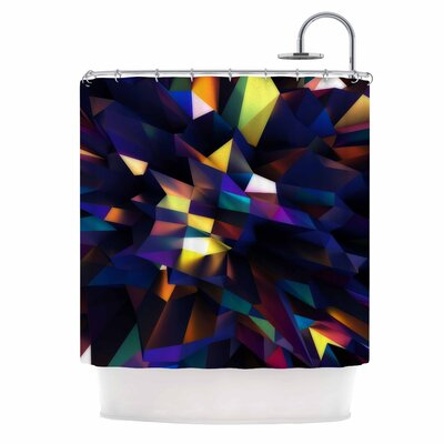 Danny Ivan Low Iris Poly Illustration Shower Curtain