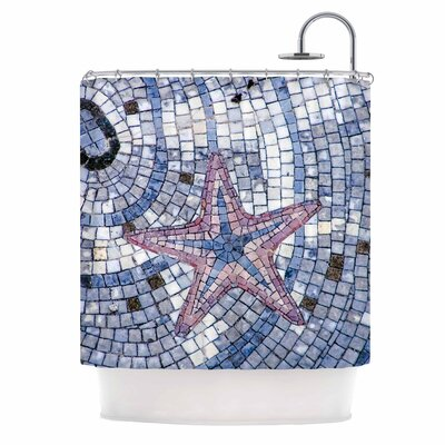 Debbra Obertanec Mosaic Starfish Shower Curtain