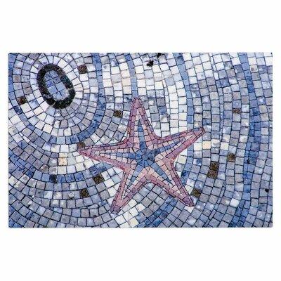 Debbra Obertanec Mosaic Starfish Nautical Doormat