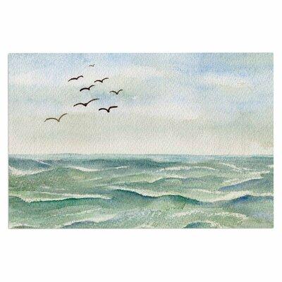 Cyndi Steen Flock Flying Low Coastal Doormat
