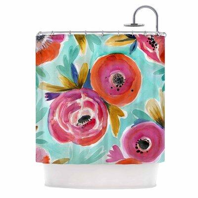 Crystal Walen Celestial Rain Flower Shower Curtain