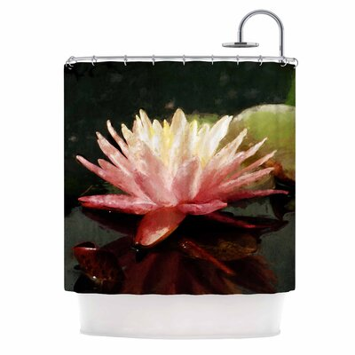 Cyndi Steen Painted Water Lily Shower Curtain