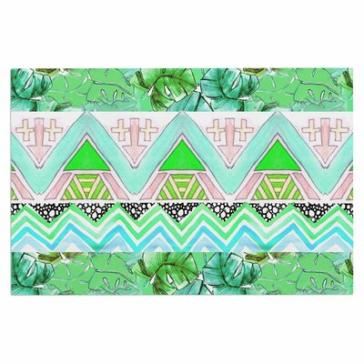 Danii Pollehn Tropicalstripes Floral Doormat