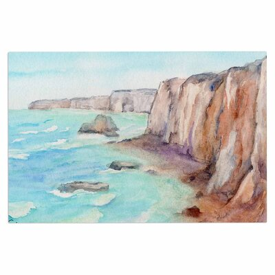 Cyndi Steen Cliffs at Normandie Travel Doormat