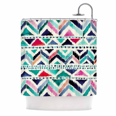 Crystal Walen Celestial Tribal Stripe Shower Curtain
