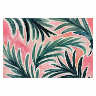 Crystal Walen Lush Palm Leaves Doormat