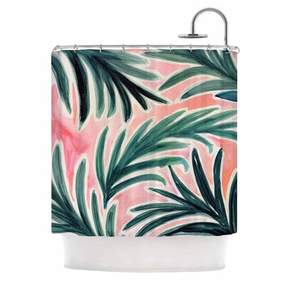 Crystal Walen Lush Palm Leaves Shower Curtain