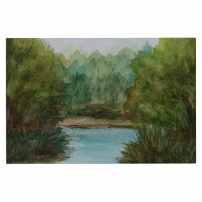 Cyndi Steen Lake Channel Watercolor Doormat