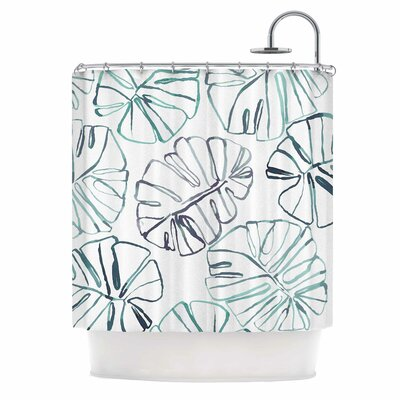 Danii Pollehn Monstera Illustration Shower Curtain