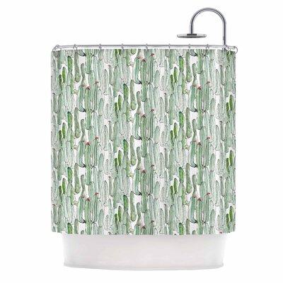 Danii Pollehn Cacti Illustration Shower Curtain