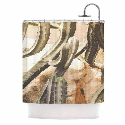 Ann Barnes Cactus Jungle Shower Curtain