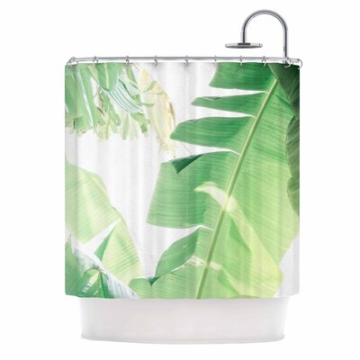 Ann Barnes Banana Leaf I Shower Curtain