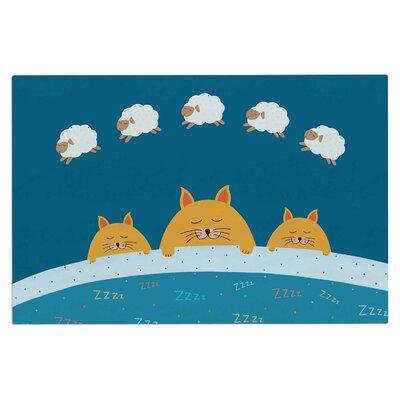 Cristina Bianco Sleeping Cats Zzzz Animal Doormat