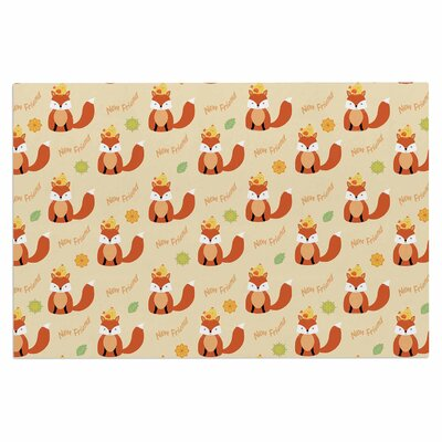 Cristina Bianco Fox New Friends Illustration Doormat