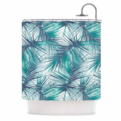 Danii Pollehn Palm Tree Branches Illustration Shower Curtain