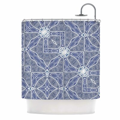 Alison Coxon Santorini Tile Digital Shower Curtain