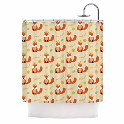 Cristina Bianco Fox New Friends Illustration Shower Curtain
