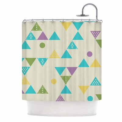 Cristina Bianco Colorful Triangles Illustration Shower Curtain