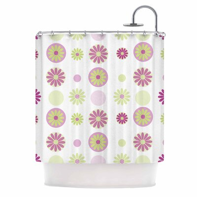 Afe Images Floral Digital Shower Curtain