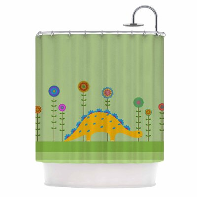 Cristina Bianco Cute Dinosaur Illustration Illustration Shower Curtain