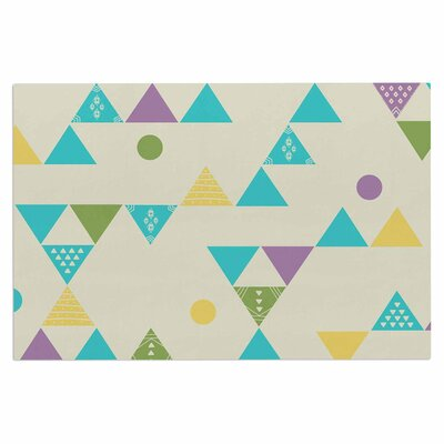 Cristina Bianco Colorful Triangles Illustration Doormat