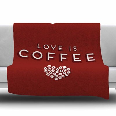 Coffee Love by Busy Bree Fleece Blanket Size: 50 W x 60 L