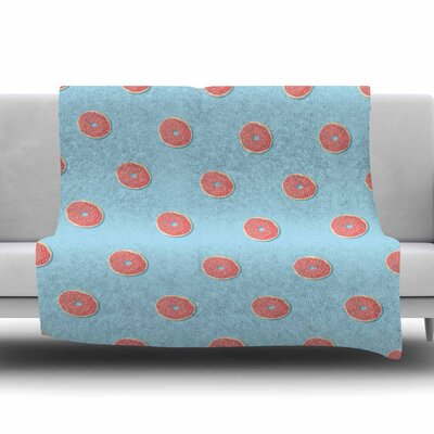 Donut Dreams by Busy Bree Fleece Blanket Size: 60 W x 80 L