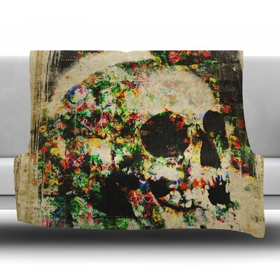 Floral Skully Frederic Levy Hadida Fleece Blanket Size: 60 W x 80 L