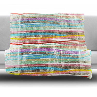 Fancy Stripes Frederic Levy Hadida Fleece Blanket Color: Light, Size: 60 W x 80 L