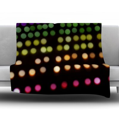 City Lights by Catherine McDonald Fleece Blanket Size: 60 W x 80 L