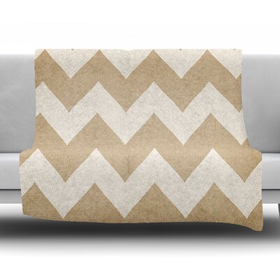 Catherine Mcdonald by Catherine McDonald Fleece Blanket Color: Biscotti/Cream, Size: 50 W x 60 L