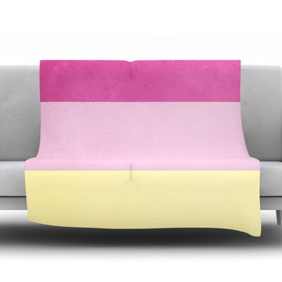 Color Block by Catherine McDonald Fleece Blanket Size: 50 W x 60 L