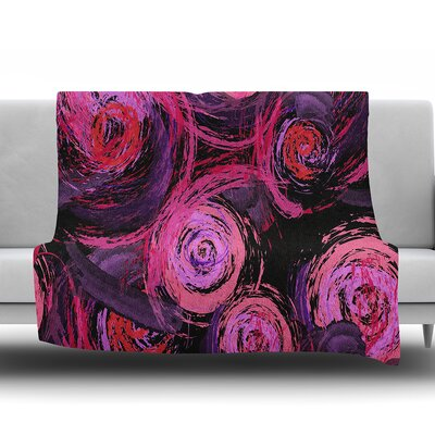 Sophia by Alison Coxon Fleece Blanket Color: Pink/Black, Size: 60 W x 80 L