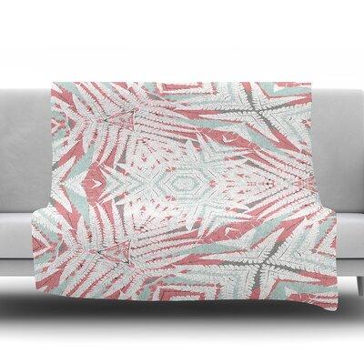 Planthouse by Alison Coxon Fleece Blanket Color: Raspberry, Size: 50 W x 60 L