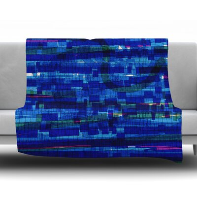 Squares Traffic by Frederic Levy Hadida Fleece Blanket Color: Blue, Size: 50 W x 60 L