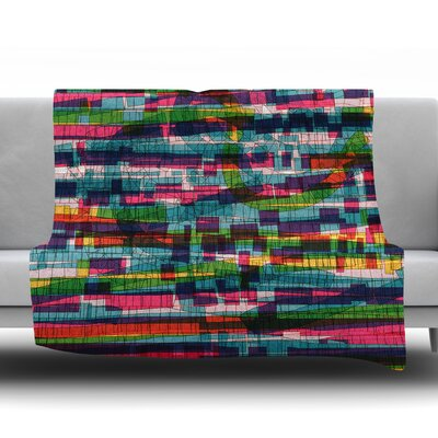 Squares Traffic by Frederic Levy Hadida Fleece Blanket Color: Pastel, Size: 50 W x 60 L