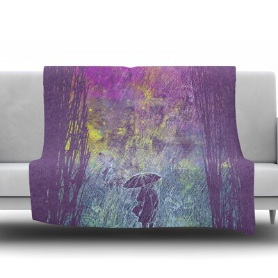 Rain by Frederic Levy-Hadida Fleece Blanket Size: 50 W x 60 L