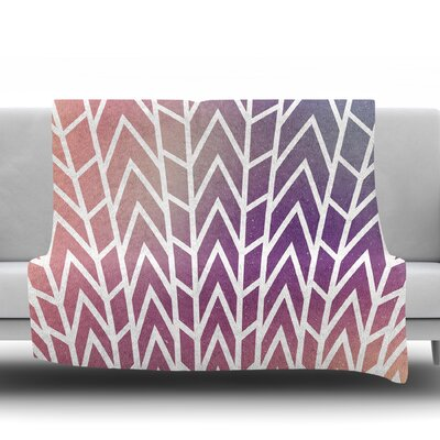 Shattering Sunsets by Matt Eklund Fleece Blanket Size: 60 W x 80 L