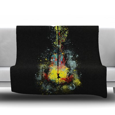 Midnight Syphony Frederic Levy Hadida Fleece Blanket Size: 50 W x 60 L