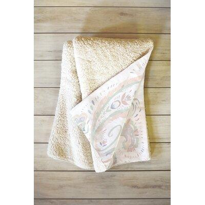 Pale Paisley Blanket Size: 60 L x 50 W