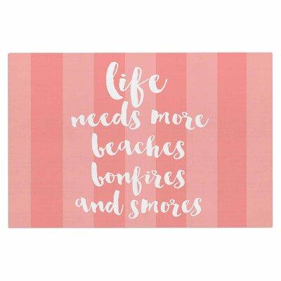 Beaches & Bonfires Doormat Color: Coral/Pink