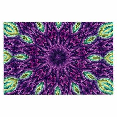 Zapped Doormat Color: Purple/Green