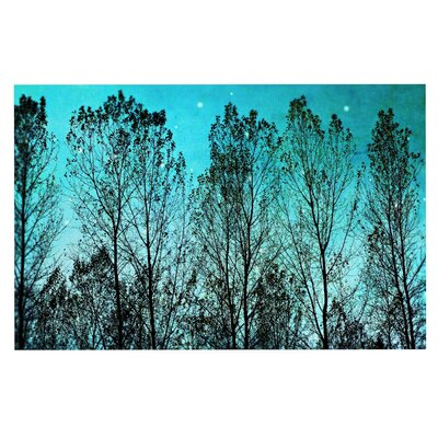 Dark Forest Trees Decorative Doormat