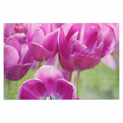 Purple Tulips Doormat