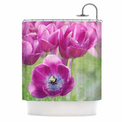 Purple Tulips Photography Shower Curtain