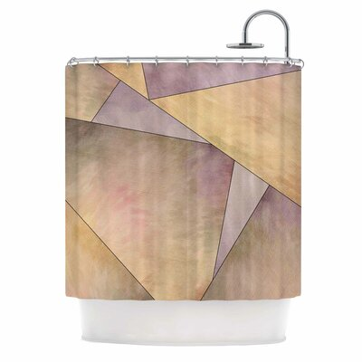 Fracture Digital Shower Curtain