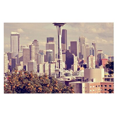 Space Needle Skyline Decorative Doormat