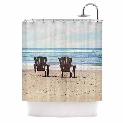 A Great View Travel Shower Curtain
